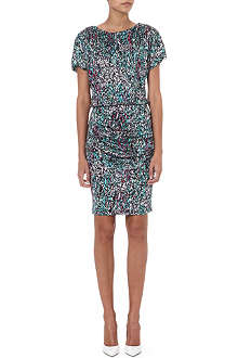 SALONI Printed jersey dress