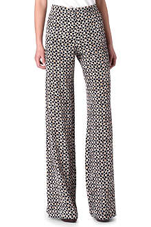 SALONI Wide-leg silk trousers