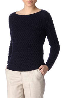 AGNONA Braided cashmere jumper