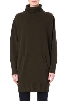 AGNONA Roll-neck cashmere dress