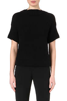 AGNONA Short-sleeved cashmere jumper
