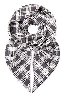 AGNONA Checked silk scarf