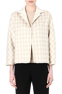 AGNONA Cashmere-silk check jacket
