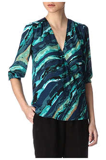 KELLY WEARSTLER Dragon-print blouse