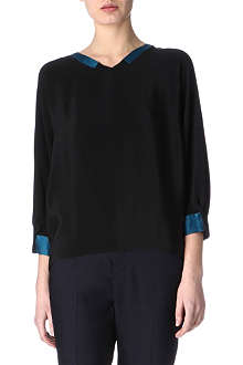 MAIYET Pleated-sleeves top
