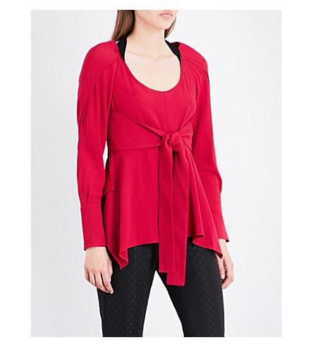 PROENZA SCHOULER Tie-waist knitted top (Magenta