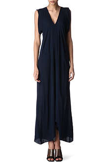 ALASDAIR V-neck silk dress