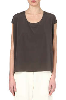 ALASDAIR Short-sleeved silk top