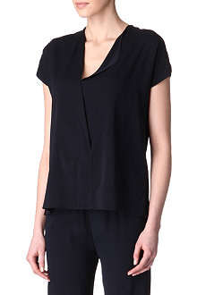 ALASDAIR V-neck silk-blend top