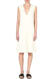 ALASDAIR V-neck crepe dress