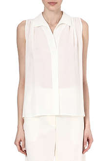 ALASDAIR Sleeveless silk shirt