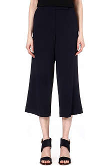 ALASDAIR Cropped crepe trousers