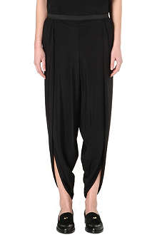 ALASDAIR Silk-blend trousers