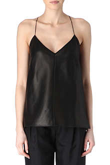 HOLMES & YANG Perforated leather top
