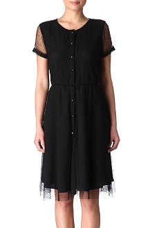 HOLMES & YANG Dotted mesh dress