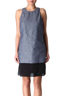 HOLMES & YANG Chambray contrast dress