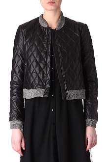 HOLMES & YANG Quilted leather bomber jacket