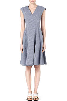 INNAMORATO Jacquard v-neck dress