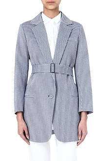 INNAMORATO Belted cotton-blend jacket