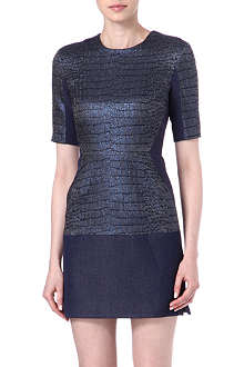 RICHARD NICOLL Croc-print denim dress