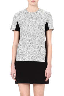 RICHARD NICOLL Tweed-print jacquard dress