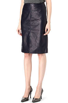 RICHARD NICOLL Leather pencil skirt