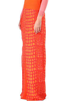 RICHARD NICOLL Silk croc-print maxi skirt