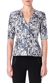 RICHARD NICOLL Jacquard peplum top