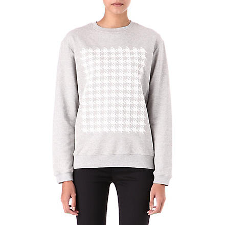RICHARD NICOLL Houndstooth sweatshirt (White/ grey