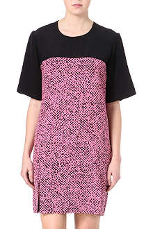 RICHARD NICOLL Tweed-print silk dress