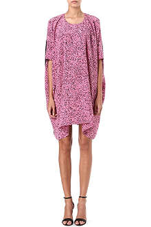 RICHARD NICOLL Stella tweed-print draped dress