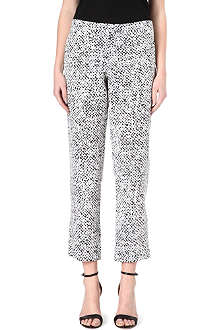 RICHARD NICOLL Tweed-print silk trousers