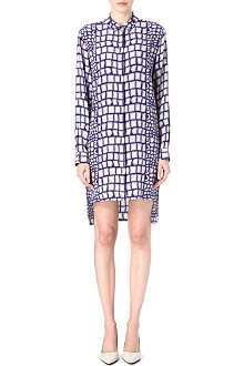 RICHARD NICOLL Croc-print shirt dress