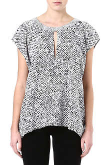 RICHARD NICOLL Stella tweed-print top