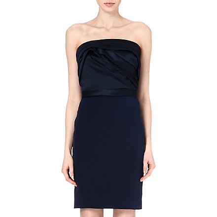 NOTTE BY MARCHESA Strapless silk dress (Marine