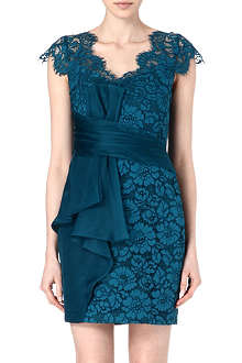 NOTTE BY MARCHESA Cap-sleeve lace dress