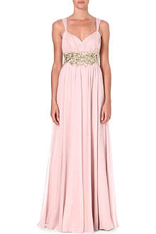 NOTTE BY MARCHESA Embellished silk gown