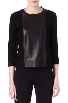THE ROW Manford leather panel top