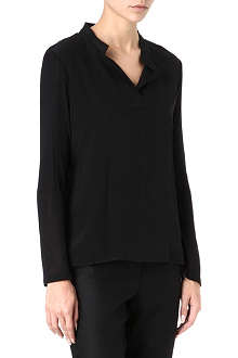 THE ROW Cashmere-blend long-sleeved shirt