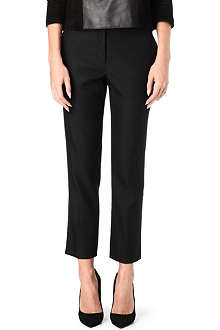 THE ROW Wool-blend slim cropped trousers