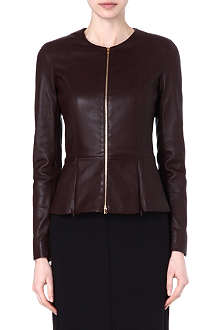 THE ROW Pleat-detail leather jacket