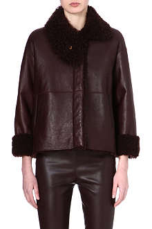 THE ROW Shearling-lined leather jacket