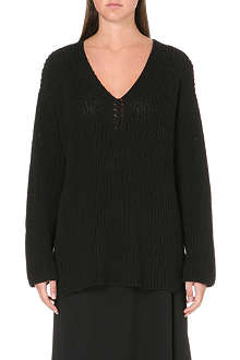 THE ROW Cotton ribbed knit jumper