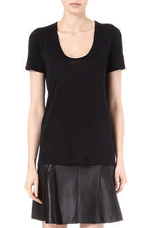 THE ROW Scoop-neck jersey t-shirt