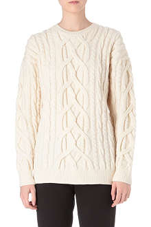 NO. 21 Cable-knit jumper