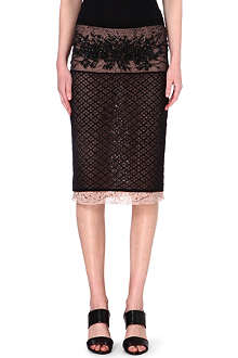 NO. 21 Embellished lace skirt