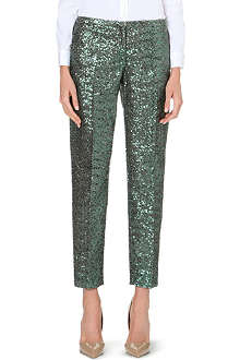NO. 21 Tapered sequinned trousers