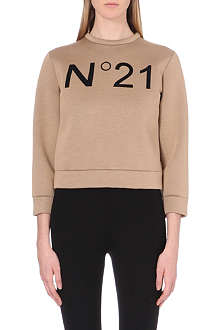 NO. 21 Branded neoprene sweatshirt