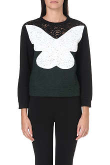 NO. 21 Floral lace butterfly jumper