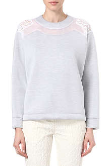 NO. 21 Lace-detail sweatshirt